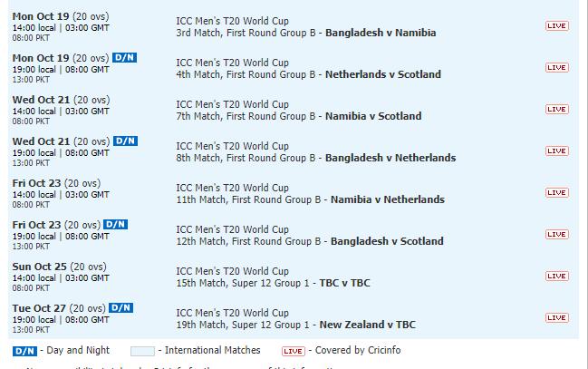 Bellerive Oval Cricket Stadium Fixtures